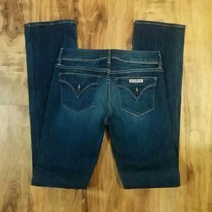 "EUC Hudson Signature Bootcut Jeans 27 x 33.5"" long"
